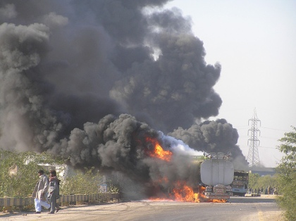 An Oil Tanker Burns in Hyderabad on Friday, 28th